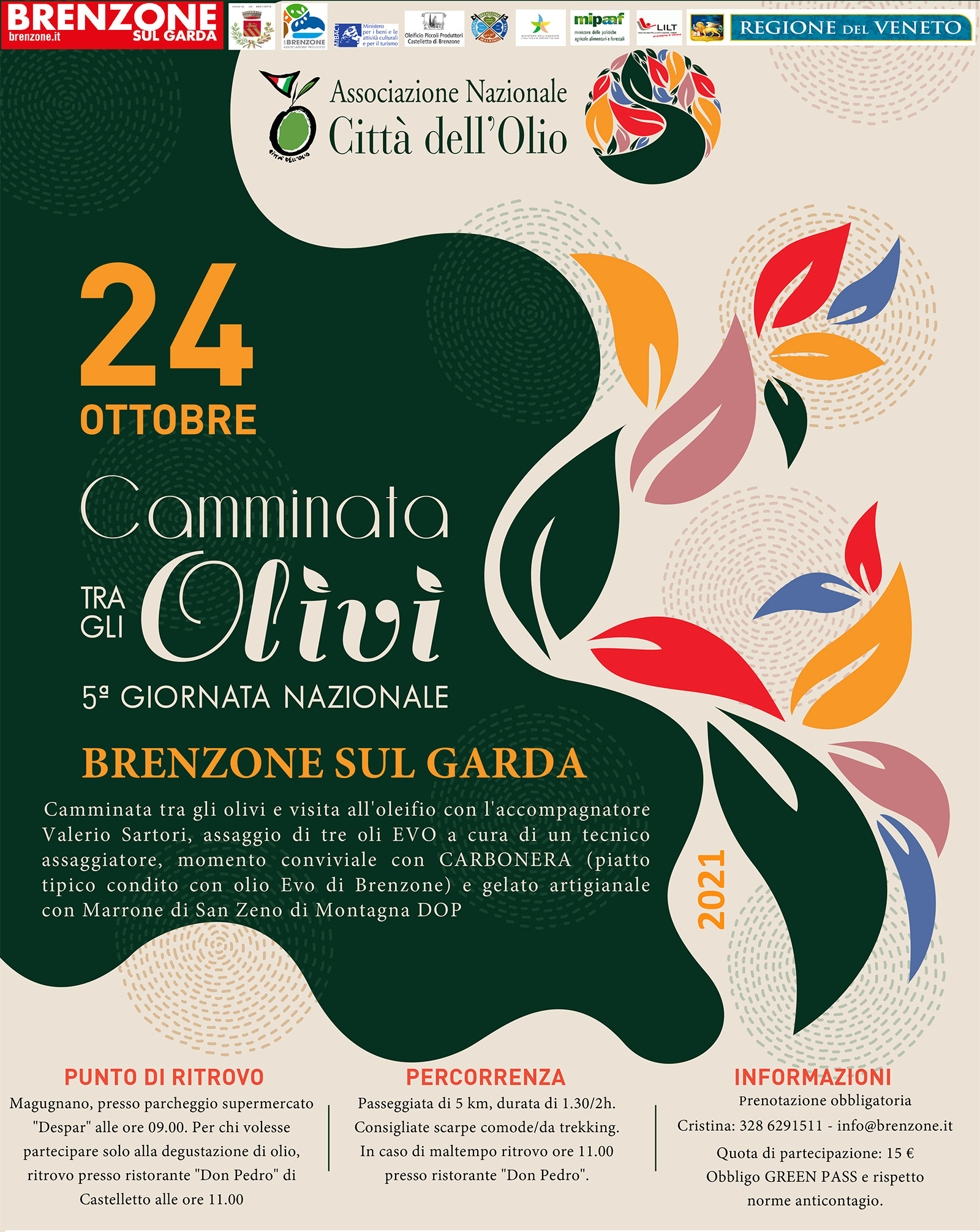 25.10.20: ANNULATA la Giornata nazionale dell'olio - CANCELED the National Oil Day 2020